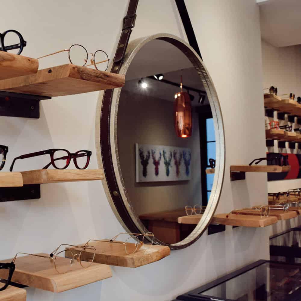Mirror hanging in Unger & Fagan